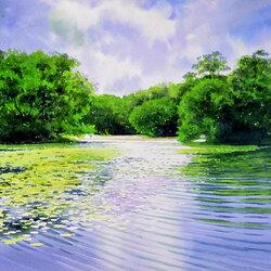 Пазл онлайн: Водные просторы