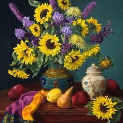 Пазл онлайн: Викторианские цветы