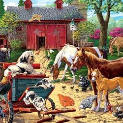 Пазл онлайн: На ферме
