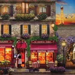 Пазл онлайн: Ресторан в Париже