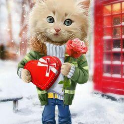 Пазл онлайн: С днём Святого Валентина!