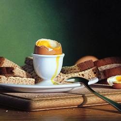 Пазл онлайн: Яйцо и хлеб