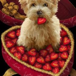 Пазл онлайн: С днём всех влюбленных!