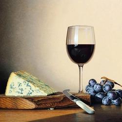Пазл онлайн: Красное вино