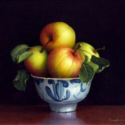Пазл онлайн: Ваза с яблоками