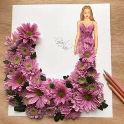 Пазл онлайн: Платье из хризантем