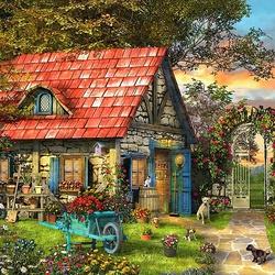 Пазл онлайн: Садовый домик