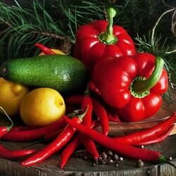 Пазл онлайн: Красный перец