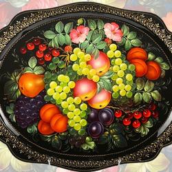 Пазл онлайн: Поднос с фруктами
