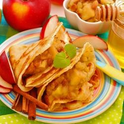 Пазл онлайн: Блины с яблоками