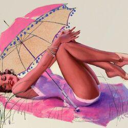 Пазл онлайн: Зонтик от солнца