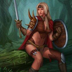 Пазл онлайн: Лесная воительница