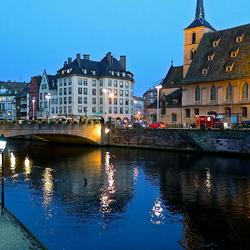 Пазл онлайн: Ночной Страсбург