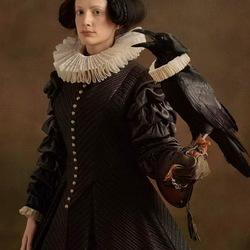 Пазл онлайн: Портрет дамы с птицей