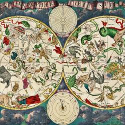 Пазл онлайн: Атлас звёздного неба XVII века
