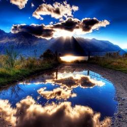 Пазл онлайн: Лужа в облаках
