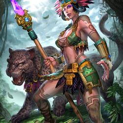 Пазл онлайн: Авиликс - богиня Луны