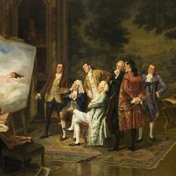 Пазл онлайн: Любители живописи