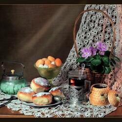 Пазл онлайн: Бабушкин чай