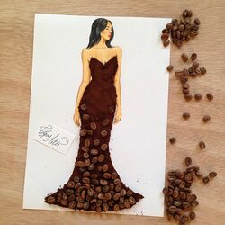 Пазл онлайн: Сделано из Coffee