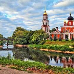Пазл онлайн: Воскресенский собор в Старой Руссе