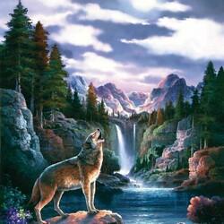 Пазл онлайн: Одинокая волчица