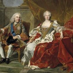 Пазл онлайн: Портрет Филиппа V и Елизаветы Фарнезе