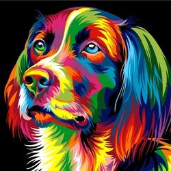 Пазл онлайн: Радужный пёсик