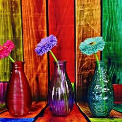 Пазл онлайн: Три вазы