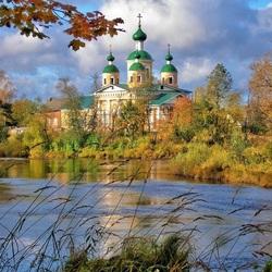 Пазл онлайн: Вид на Собор в Олонце