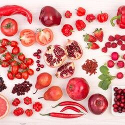 Пазл онлайн: Радуга вкуса, красное