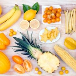 Пазл онлайн: Радуга вкуса, желтое