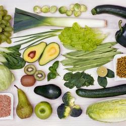 Пазл онлайн: Радуга вкуса, зеленое