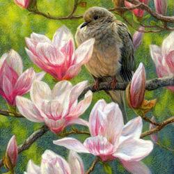 Пазл онлайн: Магнолия цветет