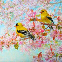 Пазл онлайн: Цветенье весны
