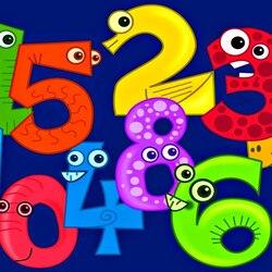 Пазл онлайн: Веселые цифры