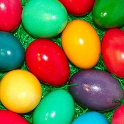 Пазл онлайн: Крашенные яйца