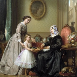 Пазл онлайн: День рождения бабушки