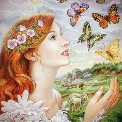 Пазл онлайн: Красавица -  Весна