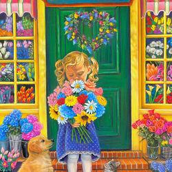Пазл онлайн: У цветочного магазина