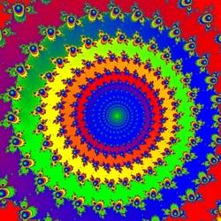 Пазл онлайн: Цветная спираль