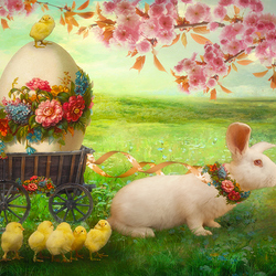 Пазл онлайн: Пасхальный заяц