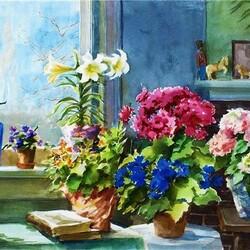 Пазл онлайн: Цветы Великой княгини Романовой
