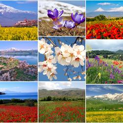 Пазл онлайн: Армения весной