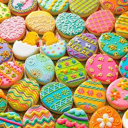 Пазл онлайн: Пасхальное печенье
