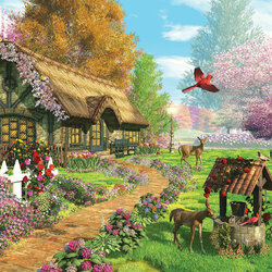 Пазл онлайн: Сказочный дом