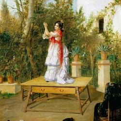 Пазл онлайн: Танец на столе