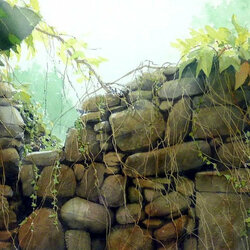 Пазл онлайн: Каменный забор