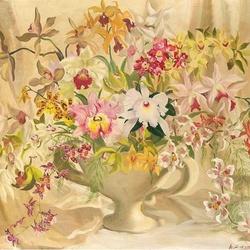 Пазл онлайн: Букет из орхидей