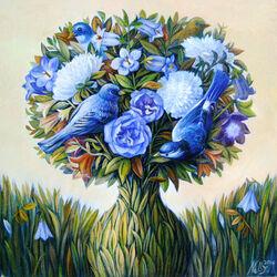 Пазл онлайн: Синяя весна